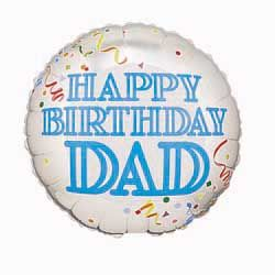 "18"" Happy Birthday Dad Confetti Mylar Balloon"