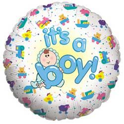 "18"" Baby Boy Mylar Balloon"