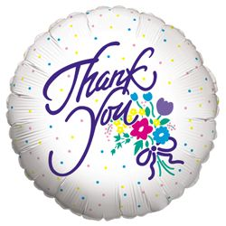 "18"" Thank You Bouquet Mylar Balloon"