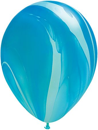 11 Inch Blue Rainbow Balloon