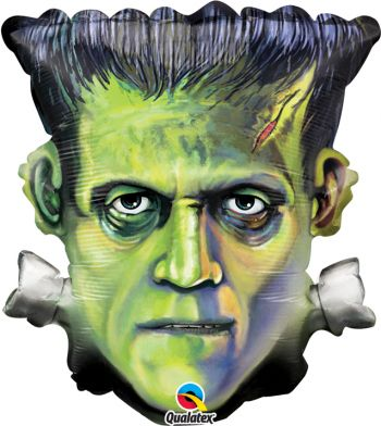 "25"" Halloween Frankenstein Head  Mylar Balloon"