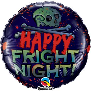 "18"" Halloween Happy Fright Night Mylar Balloon"