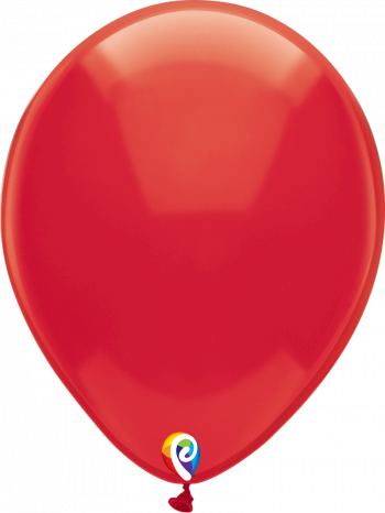 12 Inch Crystal Red Latex Balloon
