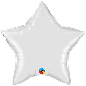 20-inch White Star Microfoil Balloon