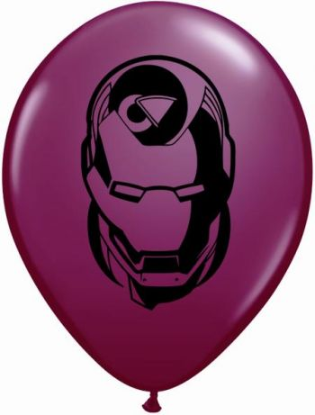 "5"" Marvel Heroes Faces Assortment Latex Balloons"