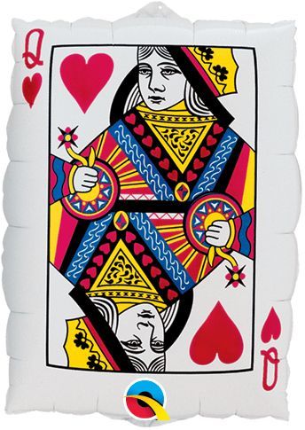 30-inch Queen of Hearts, Ace of Spades Balloon