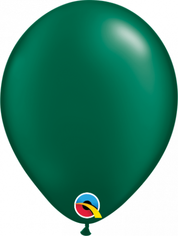 5 Inch Pearl Forest Green Balloon