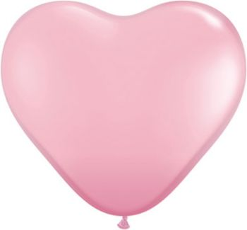 "6"" Qualatex Pink Heart Latex Balloon"
