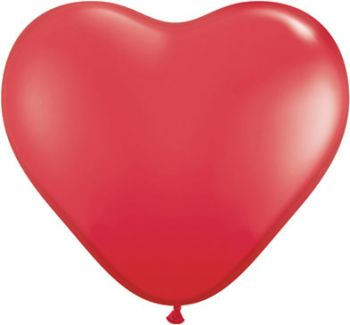 "6"" Qualatex Red Heart Latex Balloon"