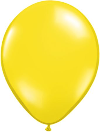 5 Inch Citrine Yellow Balloon