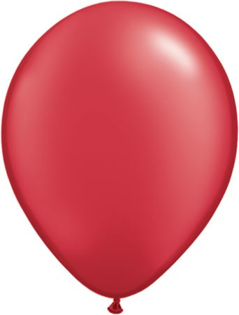 5 Inch Pearl Ruby Red Balloon