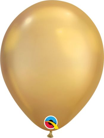 11 Inch Chrome  Gold Balloon