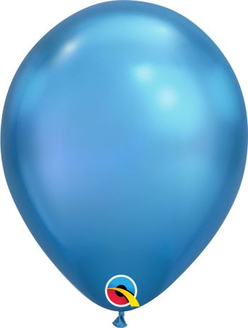 11 inch Chrome Blue Balloons