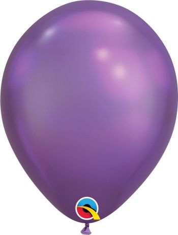 11 inch Chrome Purple Balloons