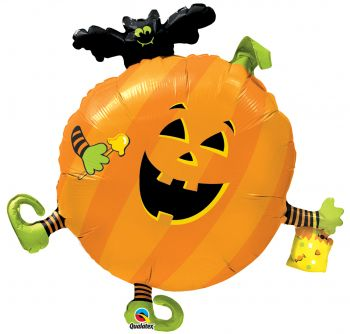"35"" Halloween Party Jack & Bat Mylar Balloon"