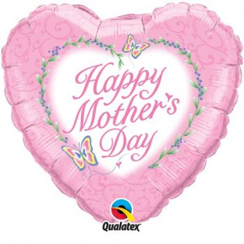 "18"" Happy Mothers Day Butterflies Mylar Balloon"