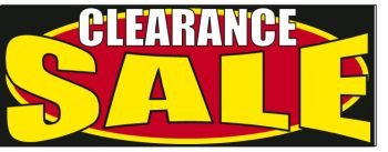 Clearance Sale Giant Cloth Banner
