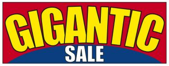 Gigantic Sale Giant Cloth Banner