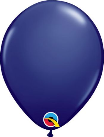 Pack of 100 5 Inch Navy Balloons