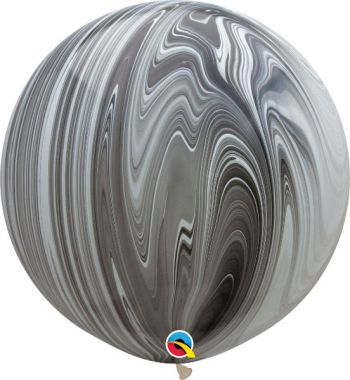 Black and White 30 Inch Agate Balloon