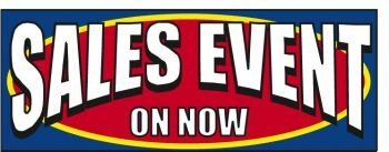 Sales Event On Now Giant Cloth Banner