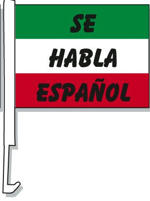 Se Habla Espanol Car Window Flag