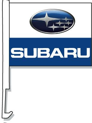 Subaru Car Window Flag
