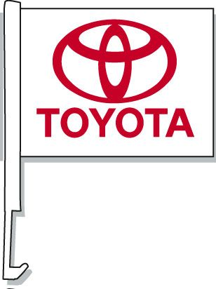 Toyota Car Window Flag