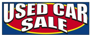 Used Car Sale Giant Cloth Banner