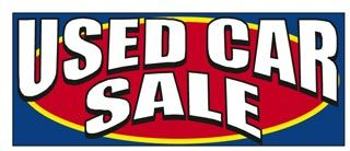 Used Car Sale Windshield Banner