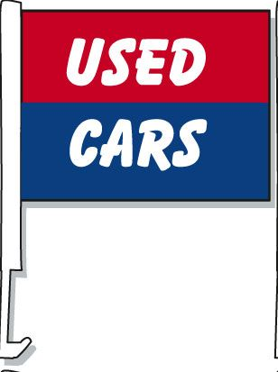 Used Cars Car Window Flag