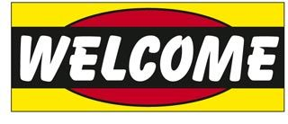 Welcome Windshield Banner